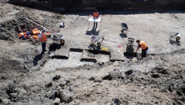 Opgravingen in de Wateringse Binnentuinen in Den Haag