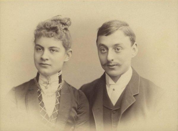 Helene en Anton Kröller ten tijde van hun verloving, 1887-1888
