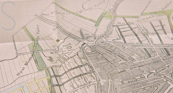 Oude plattegrond van Rotterdam