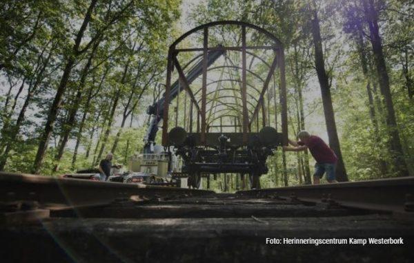 Het ijzeren frame van een originele wagon