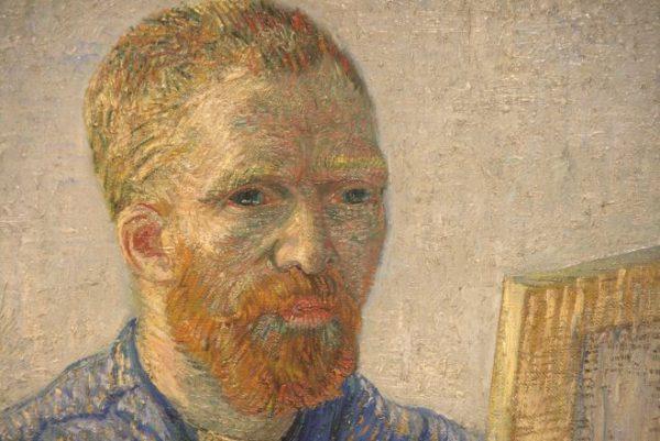 Detail zelfportret Vincent van Gogh (1888)