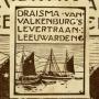 Muurreclame herinnert aan Leeuwarder levertraan