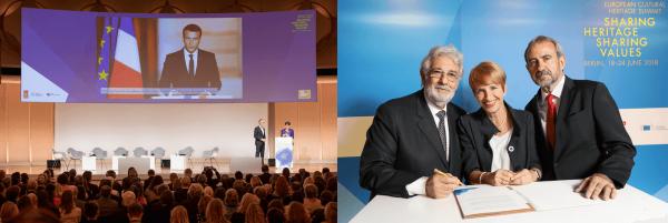 De eerste 'European Cultural Heritage Summit' in Berlijn