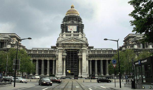 Het Brusselse Justitiepaleis in 2005