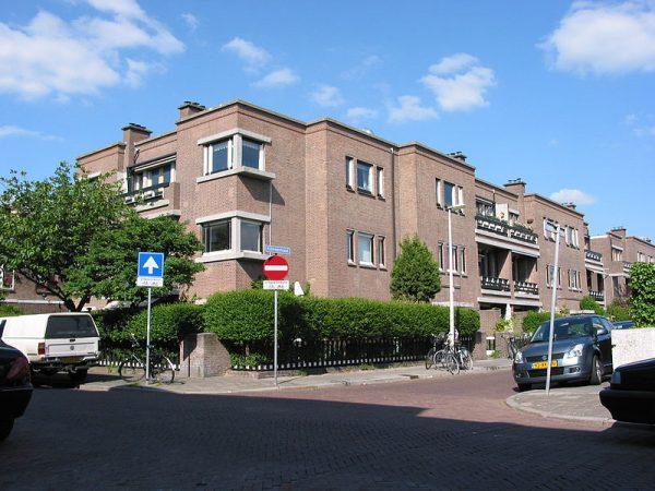 Het door architect Wils ontworpen woningbouwcomplex Daal en Berg in Den Haag