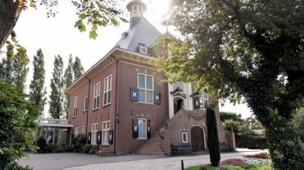 Het gemeentehuis van Haarlemmerliede en Spaarnwoude in Halfweg