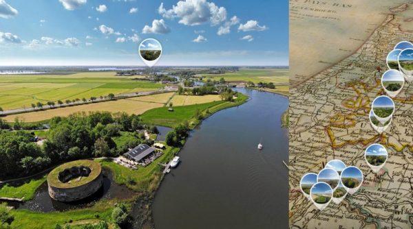 De Nieuwe Hollandse Waterlinie in VR-vogelperspectief