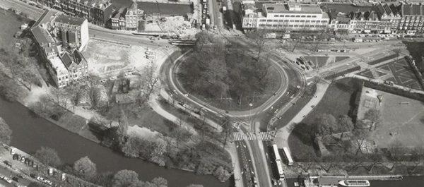 Luchtfoto van het Weteringcircuit in Amsterdam
