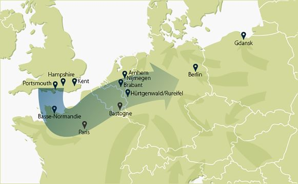 De route door Europa