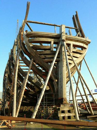 De replica van het linieschip De Delft