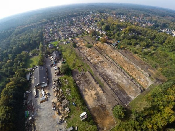 Opgravingen bij het Franse legerkamp van Napoleons leger in Austerlitz