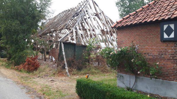 De Vlaamse schuur op Groeske 8 in Castelré