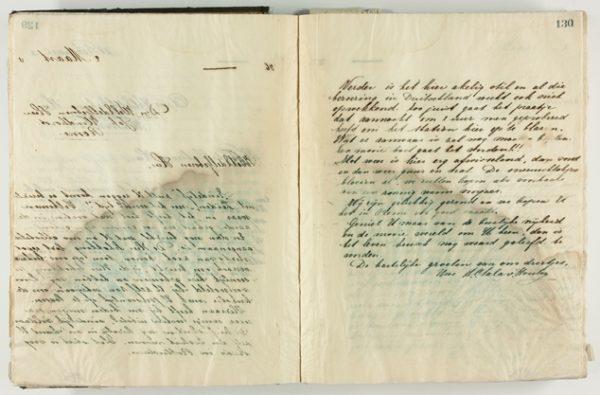 Doorslag van de brief die mevrouw Sala-Van Houten op 2 maart 1933 schreef aan kunstenaar Johan Windhorst
