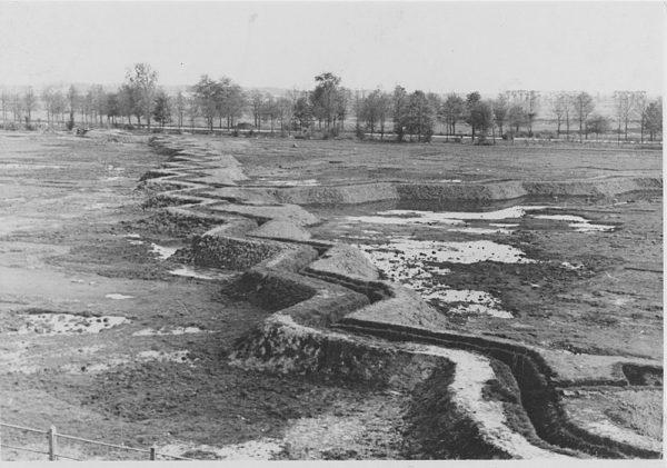 Duitse loopgravenlinie in het Stadspark in Groningen