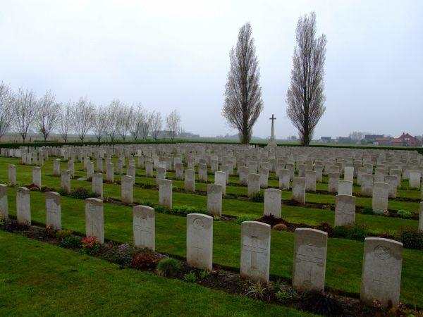 Referentiebeeld: Brandhoek New Military Cemetery bij Ieper