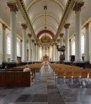 Het interieur van de H. Antoniuskerk in Breda
