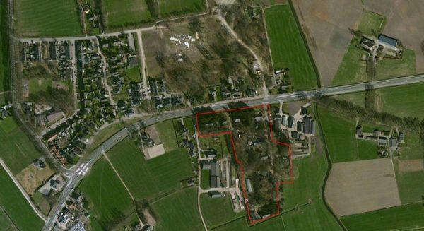 Het terrein van de Fliegerhorst in Teuge