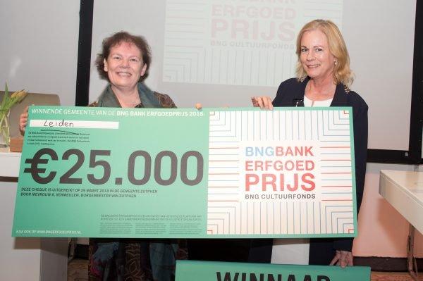 Leiden, Winnaar van de BNG Bank Erfgoedprijs 2018