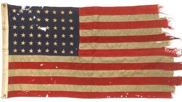 De vlag uit 1944, die werd meegevoerd op D-day