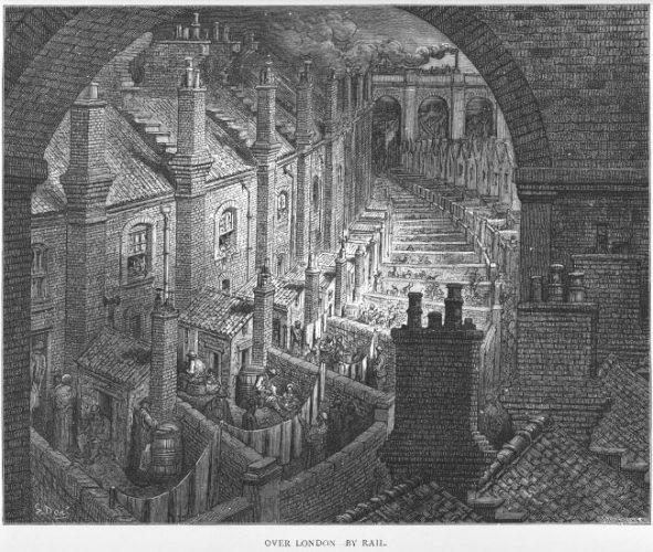 Woonomstandigheden in Londen ca 1870