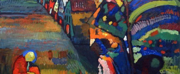 Bild mit Häusern Wassily Kandinsky