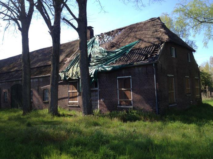 De vervallen boerderij aan de Gerwenseweg 3 in Nuenen