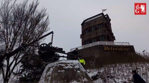 De PaK 38 wordt teruggeplaatst bij het Belvédère in Nijmegen