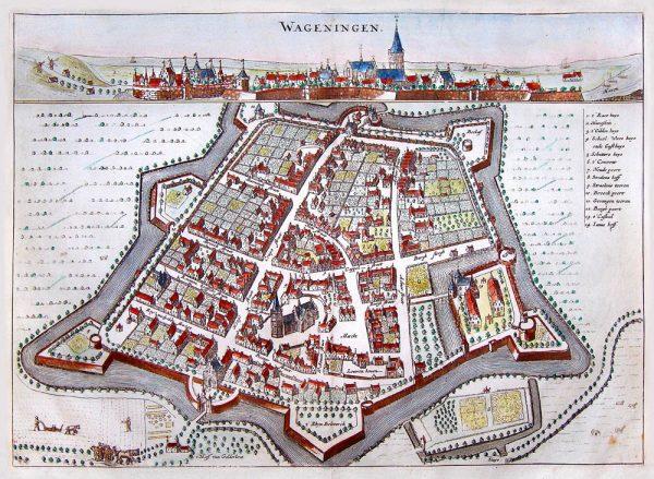 Historische kaart Wageningen