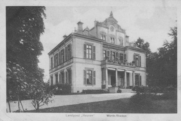 Het landhuis op het landgoed Heuven is in 1939 gesloopt