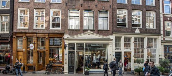 Historische winkelpuien aan de Reestraat in Amsterdam