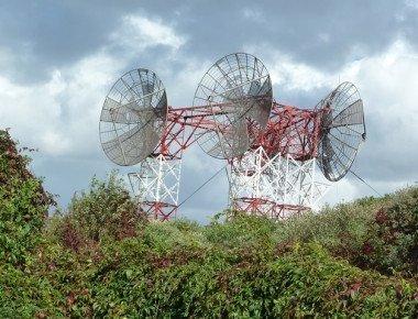 De Troposcatter, de antenne-installatie in het Vinetaduin bij Hoek van Holland