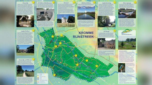 De kaart van de Kromme Rijnstreek