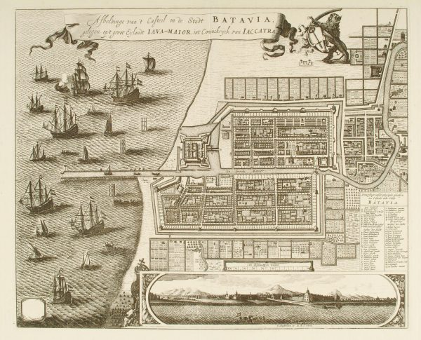Gezicht op Batavia Beeld: Ottens via Scheepvaartmuseum
