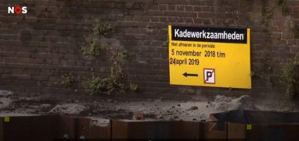Kadewerkzaamheden in Amsterdam