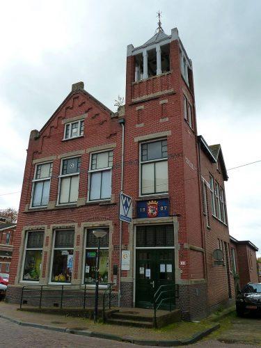 Het voormalige gemeentehuis in Winsum