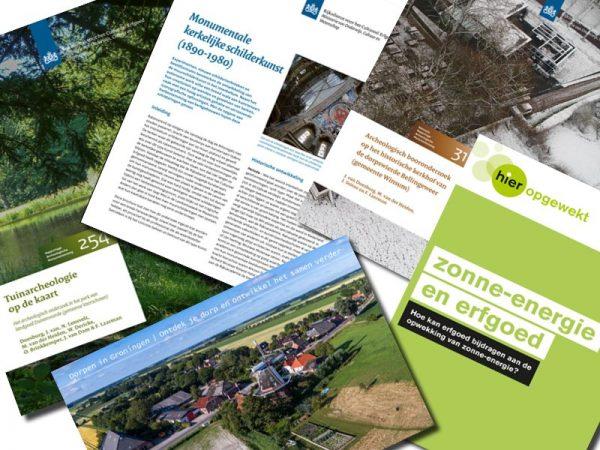 Publicaties Rijksdienst voor het Cultureel Erfgoed