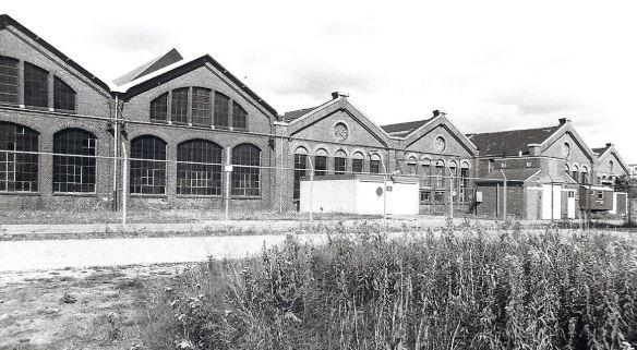 De centrale werkplaats 2 in de spoorzone in Zwolle (1986)