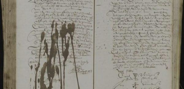 Handschrift notaris Hendrik Schaef (1644)