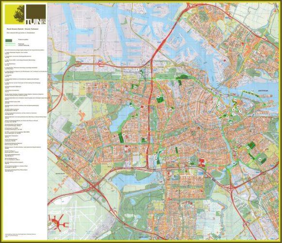 De NTs-fietsroute 'Groene historie, groene toekomst: een nieuwe blik op tuinen in Amsterdam'