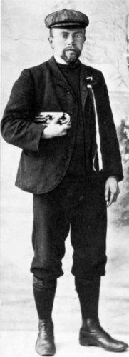 Minne Hoekstra, winnaar van de eerste Elfstedentocht in 1909