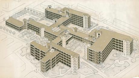 Bejaardenhuis De Drie Hoven van architect Herman Hertzberger