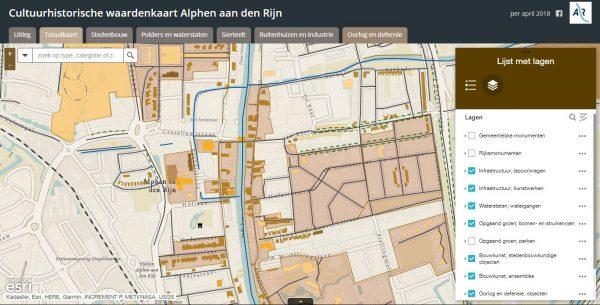 Cultuurhistorische waardenkaart Alphen aan den Rijn
