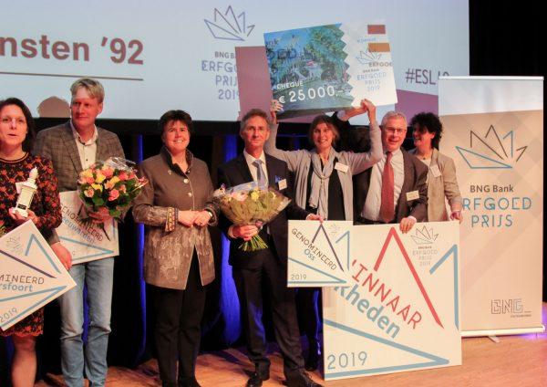 Gemeente Rheden winnaar van de BNG Bank Erfgoedprijs 2019