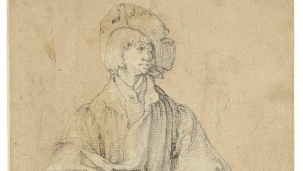 'Tekening van een staande jonge man' - Lucas van Leyden