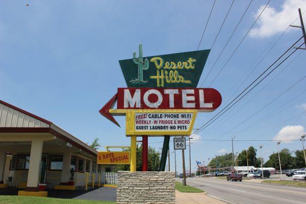 Desert Hills Motel aan de Route 66 in Tulsa