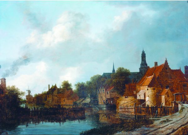 Gezicht op Weesp, 1645, Isaac van Ruysdael