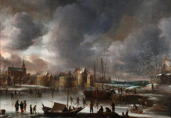 Gezicht op Weesp, 1657, Jan Abrahamsz. van Beerstraten