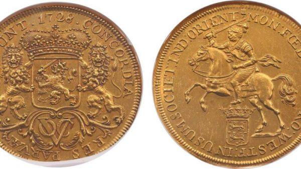 De gouden VOC-munt