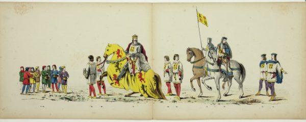 Pagina's uit het maskeradealbum uit 1865
