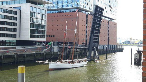 Het historische Duitse zeilschip, de No. 5 Elbe